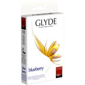 Glyde Ultra Blueberry Flavour Vegan Condoms 10 Pack